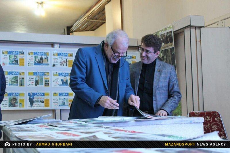 حضور مهندس بهروان در نمایشگاه مطبوعات استان مازندران