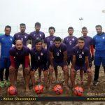 اردوی آماده سازی تیم فوتبال ساحلی شهریار ساری در سواحل بابلسر