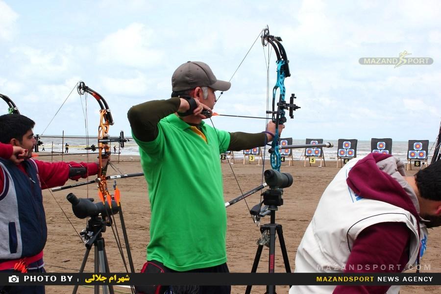 نخستین دوره رقابتهای تیراندازی با کمان ساحلی در ساری /عکاس :شهرام جلالی