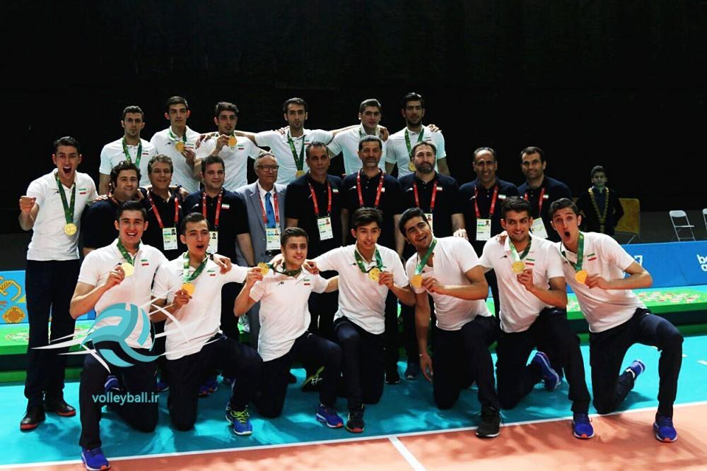تیم ملی والیبال ایران در بازی های همبستگی کشورهای اسلامی قهرمان شد
