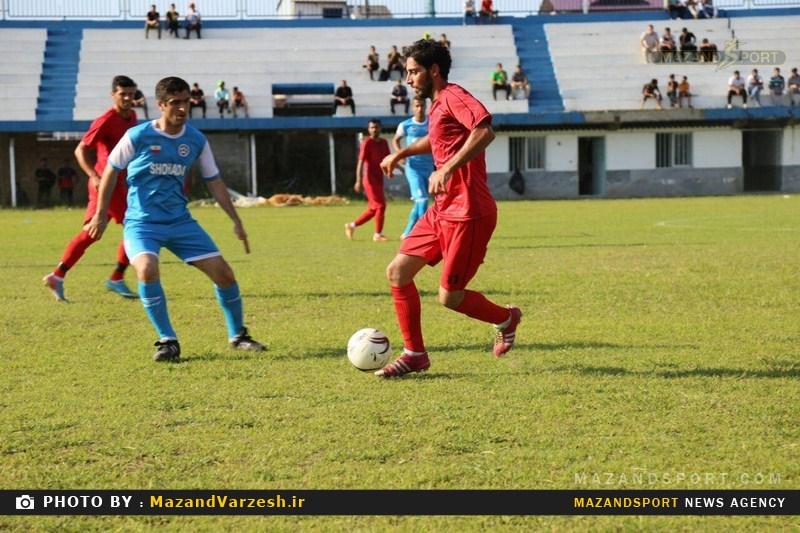 گزارش تصویری دیدار حربده محمودآباد و شهدای لمراسک گلوگاه + عکس