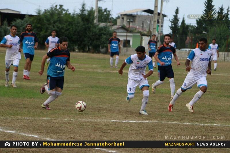 تصاویر شکست شهروند رامسر مقابل لمراسک گلوگاه در لیگ برتر فوتبال مازندران