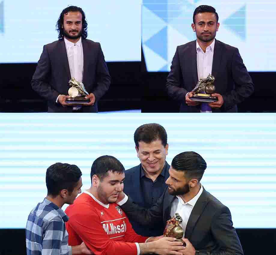 گزارش تصویری پرچم داری  فوتبالیست های مازندرانی  در مراسم انتخاب برترین های فوتبال ایران با کسب ۴ عنوان