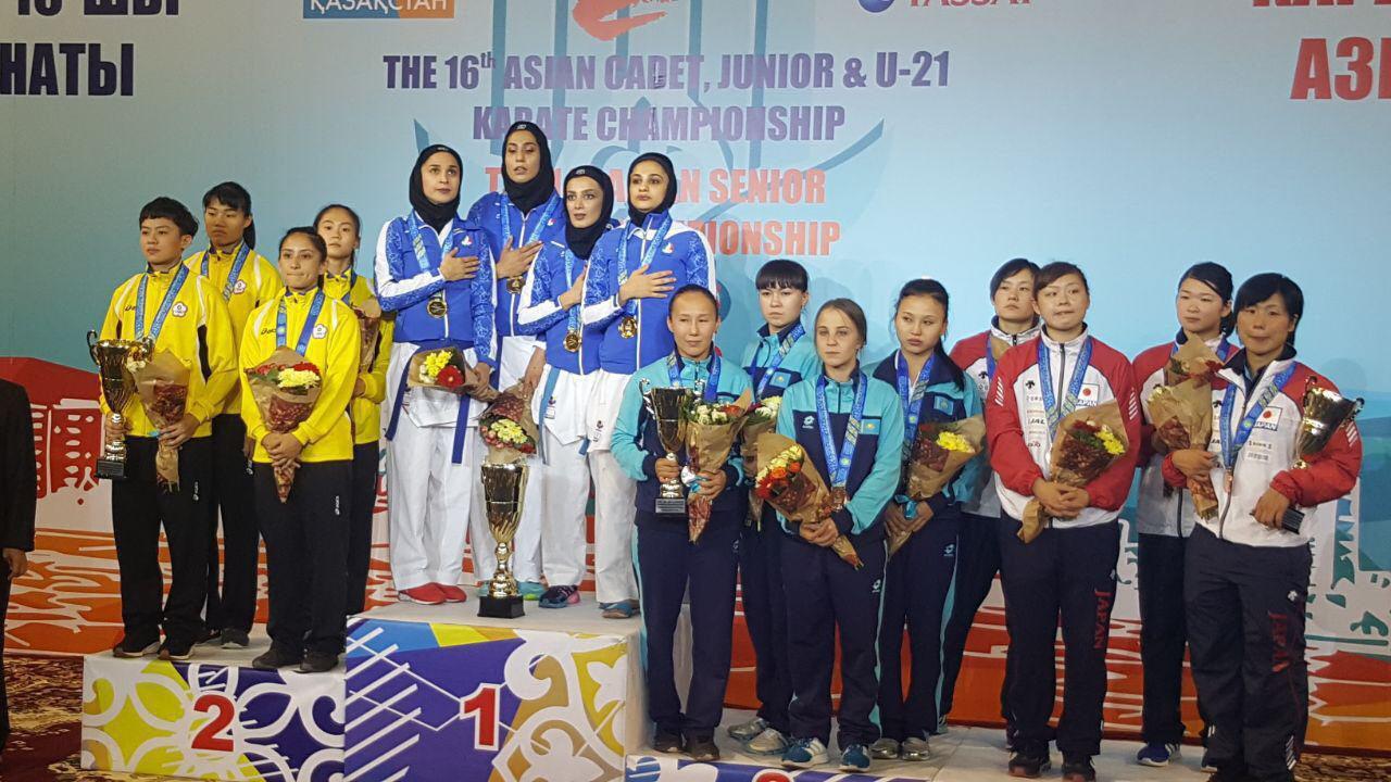 ایران قهرمان رقابتهای آسیایی در آستانا قزاقستان شد + تصاویر