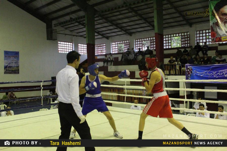 دومین روز مسابقات قهرمانی بوکس مازندران در رامسر پایان یافت