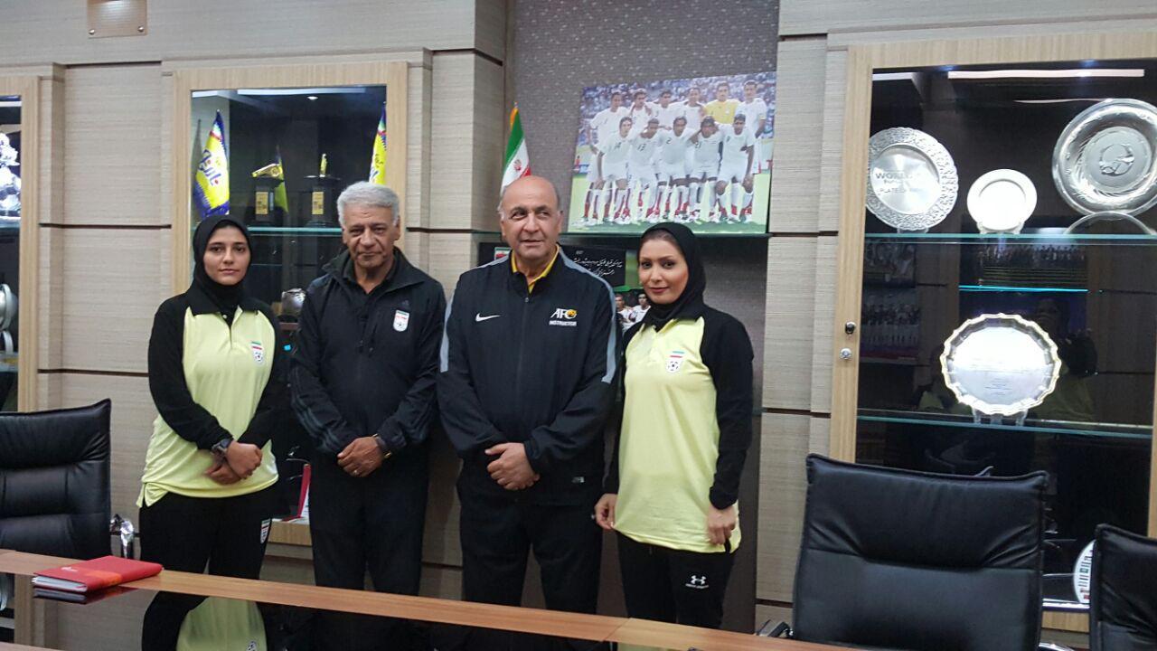 حضور دو بانوی پرتلاش مازندرانی در دوره ی مربیگری فوتبال A آسیا + عکس