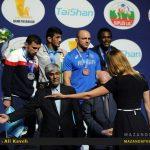گزارش تصویری لحظه شوق انگیز کسب مدال طلای حسن یزدانی /عکاس : علی کاوه