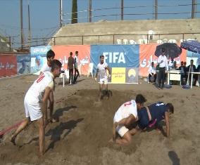 قهرمانی تیم شهریار ساری در رقابت های کبدی ساحلی+گزارش تصویری
