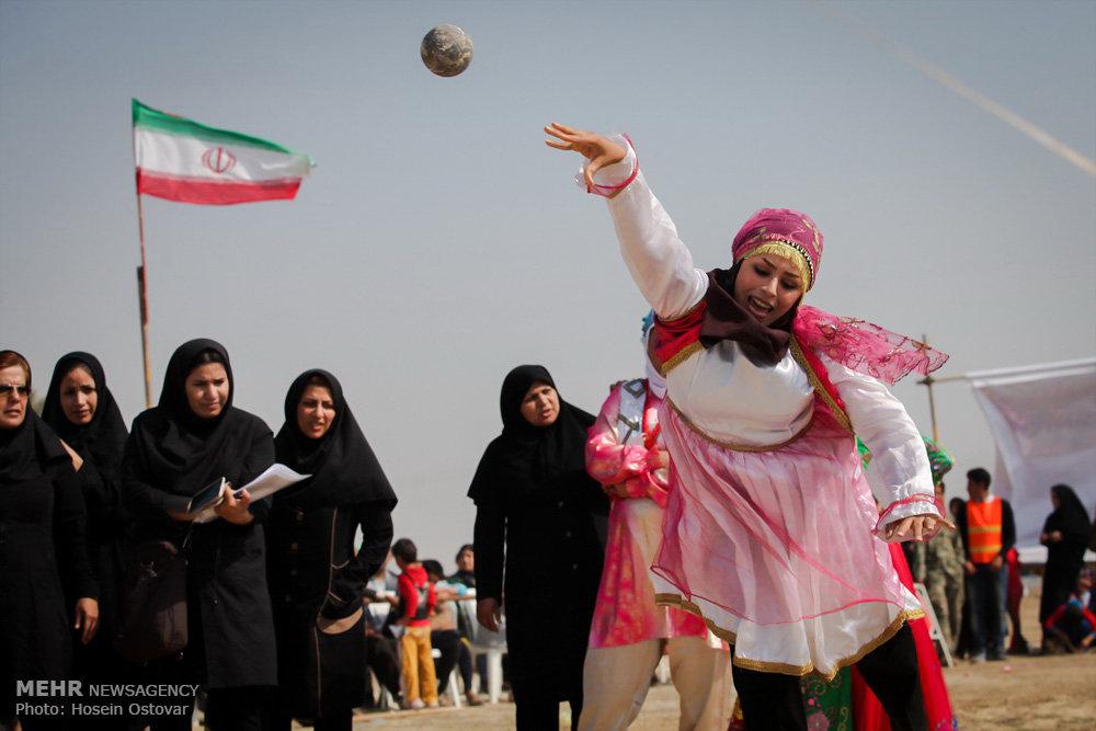 اولین جشنواره بازی های بومی و محلی درساحل فرح اباد ساری + تصاویر