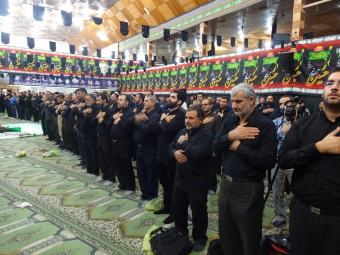 مراسم عزاداری دهه اول محرم با حضور جامعه ورزش مازندران برگزار شد+تصاویر