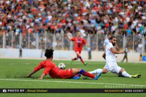 پیروزی نساجی قائمشهر برابر ملوان بندرانزلی /عکاس :احمدقربانی