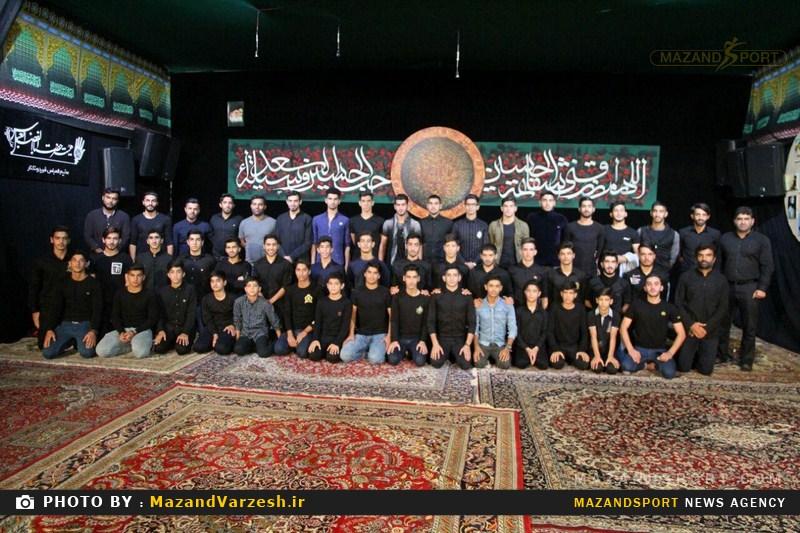 مراسم عزاداری اباعبداللهالحسین با حضور جمعی از ورزشکاران و مسئولین برگزار شد + تصاویر