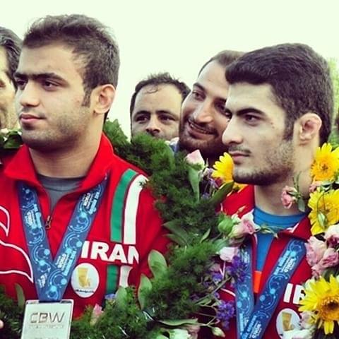 علی ارسلان و امیرحسین حسینی در فینال لیگ برتر کشتی فرنگی