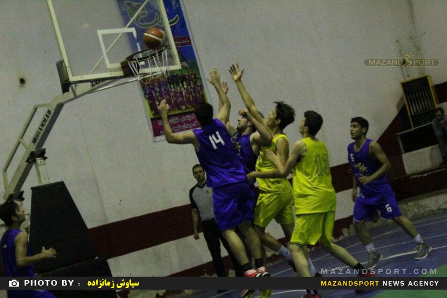 دیدار دوستانه تیم بسکتبال رامسربا تیم بسکتبال منطقه پنج تهران