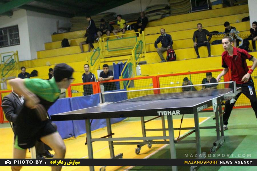 مسابقات تنیس روی میز قهرمانی استان  در د و بخش نوجوانان و جوانان در رامسر