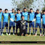 تصاویر برتری شهید مولایی قراخیل در برابر ابومسلم مشهد در لیگ دسته سوم