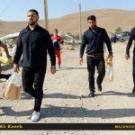تصاویر اختصاصی از حضور قهرمانان مازندرانی کشتی المپیک و جهان در میان مردم کرمانشاه