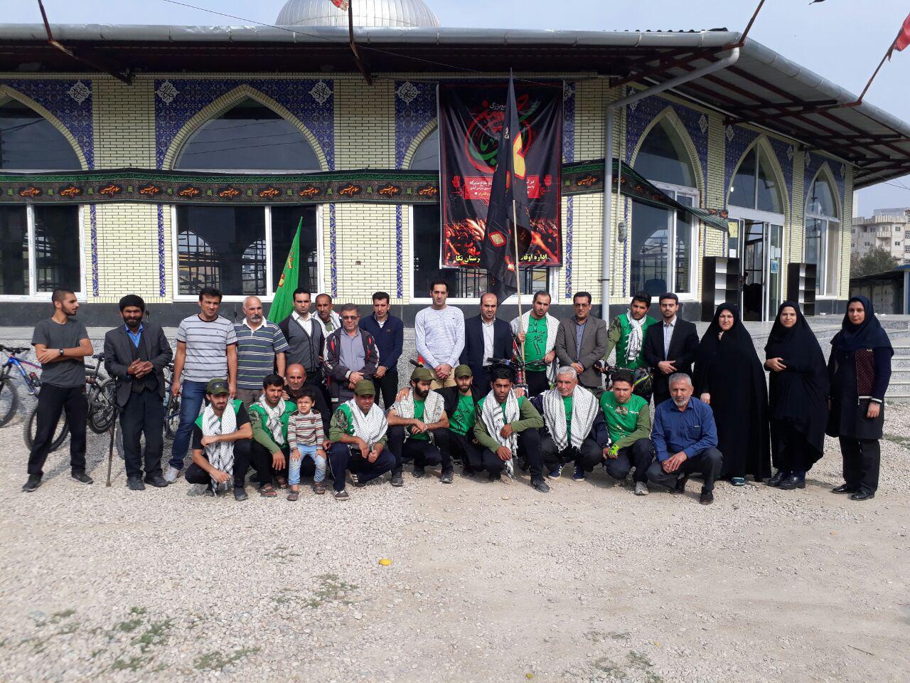 کاروان رکاب زنان کربلایی با استقبال رسمی وارد مازندران شدند + عکس