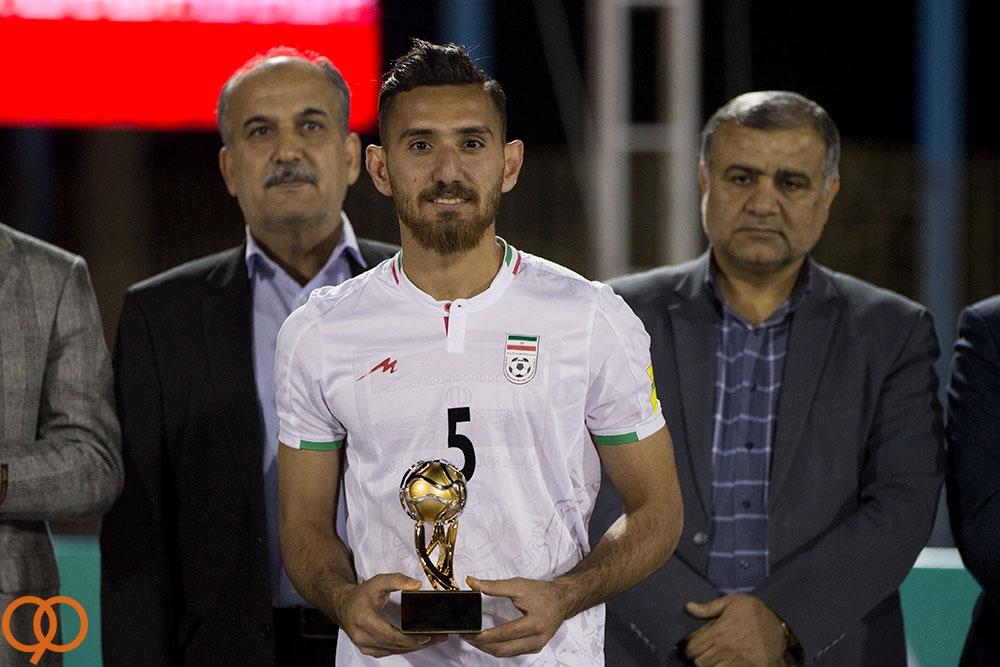 محمد مرادی بازیکن مازندرانی تیم ملی بهترین بازیکن جام شد