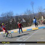 دوراستقامت  رقابتهای لیگ دوچرخه سواری مازندران روز گذشته درشهرستان رامسر