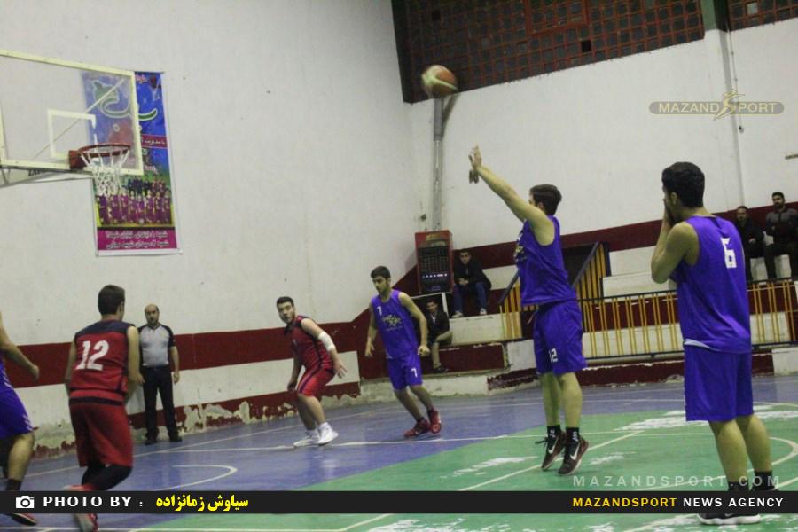 تصاویر دیدار رامسر و نوشهر  از سری مسابقات لیگ بسکتبال  جوانان قهرمانی  استان