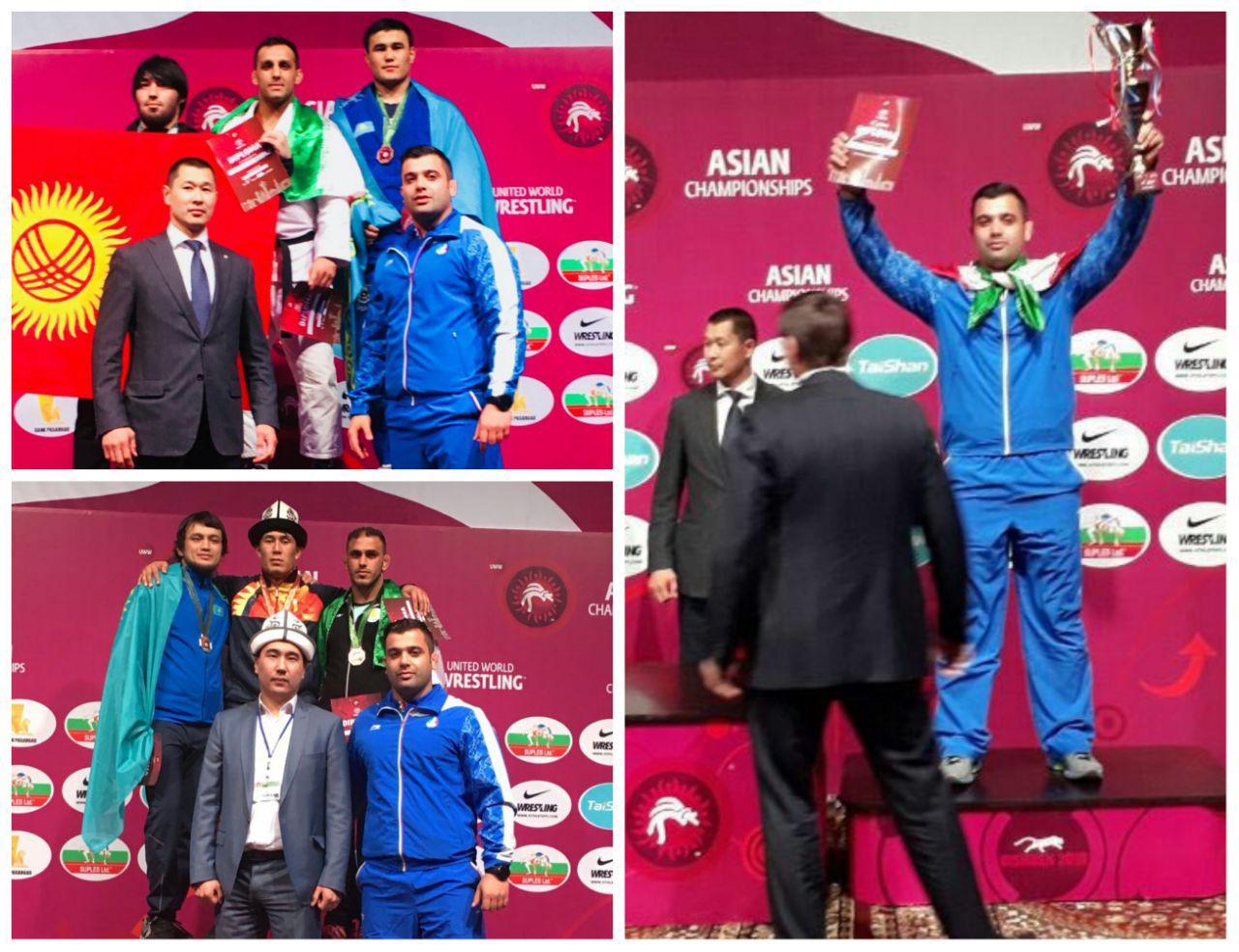 گراپلینگ قهرمانی ۲۰۱۸ آسیا/با سه مدال مازنی ها سوم شدیم