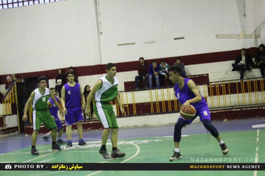 پیروزی بسکتبال  جوانان رامسر مقابل بسکتبال آمل