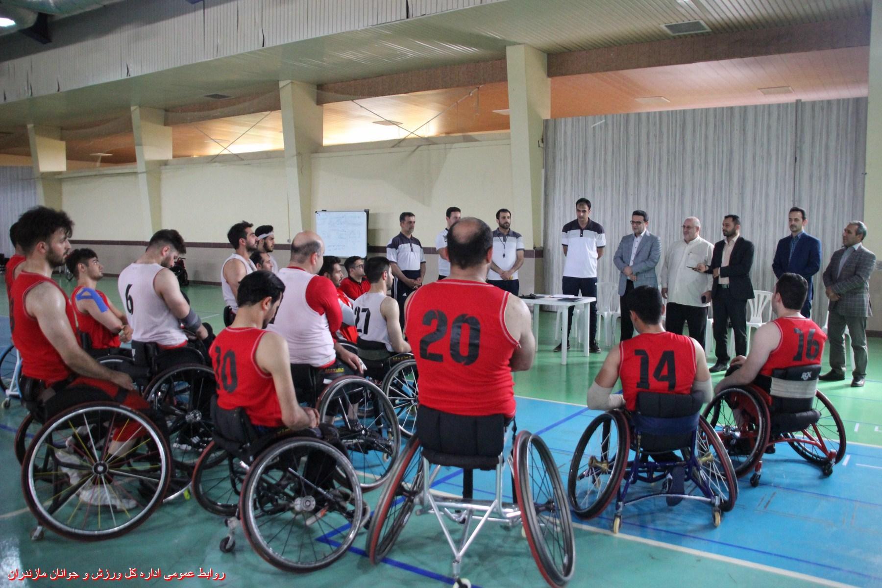 برگزاری اردوی تیمهای ملی بسکتبال با ویلچر و وزنهبرداری جانبازان و معلولین در ساری
