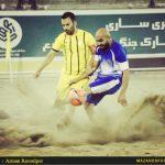 تصاویر دیدار شهریار ساری و جهان نژادیان آبادان در لیگ برتر فوتبال ساحلی