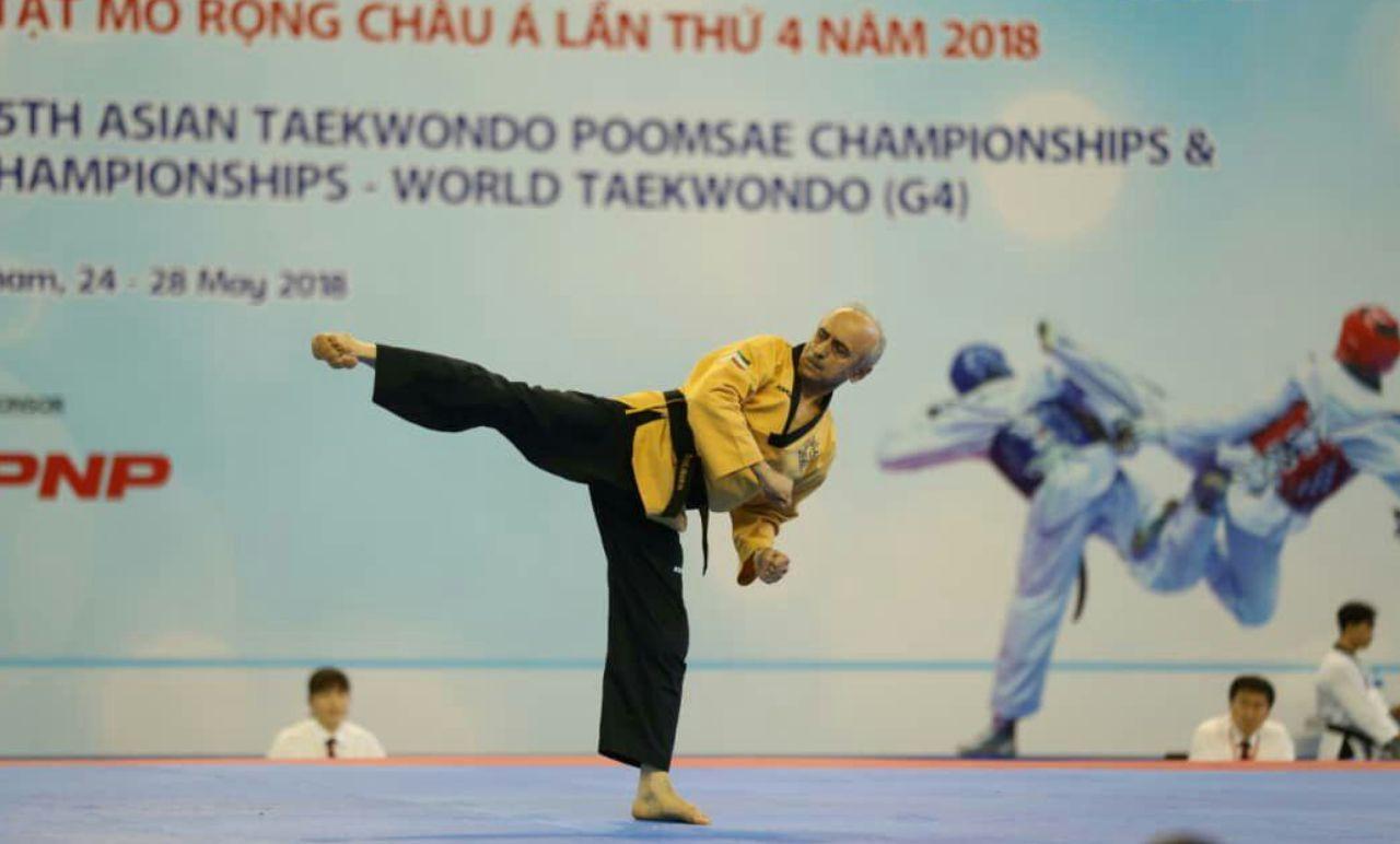 خوشرنگترین مدال آسیا بر گردن هدایت آریانفر / دومین طلا مازندران !