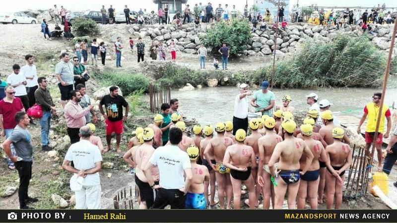مسابقات شنای آبهای آزاد مازندران با شکوه خاصی در بابلسر برگزار شد + نتایج