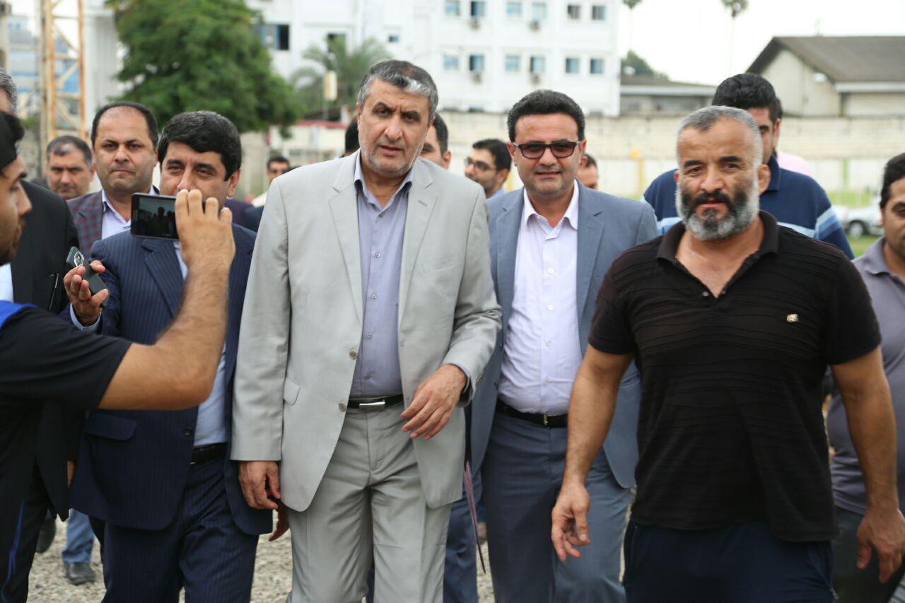 بازدید استاندار و مدیرکل ورزش و جوانان مازندران از استادیوم هفت تیر بابل