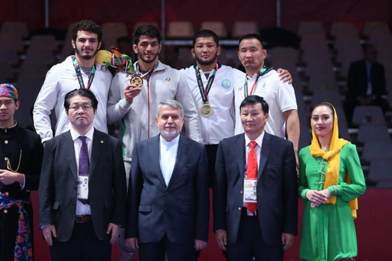 تصاویری از افتخار آفرینی مازندرانی ها در رقابت های کشتی آزاد بازی های آسیایی ۲۰۱۸ جاکارتا