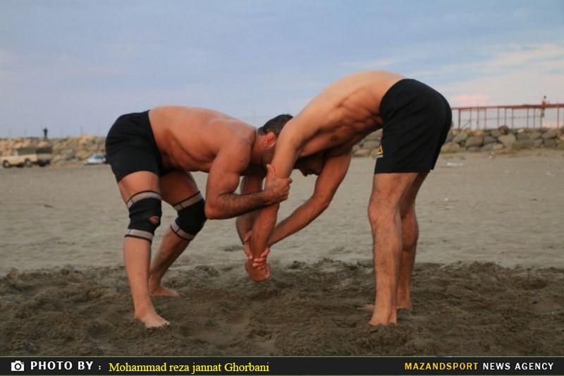 تصاویری از آغاز تمرینات تیم ملی کشتی ساحلی ایران در رامسر