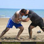 تصاویری از تمرینات فشرده تیم ملی کشتی ساحلی ایران در رامسر
