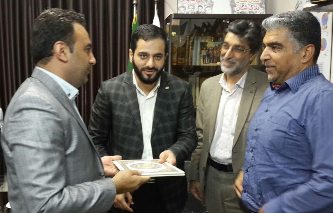 رضا حمزه پور به سمت مدیر روابط عمومی و رسانه این سازمان منصوب شد + تصاویر