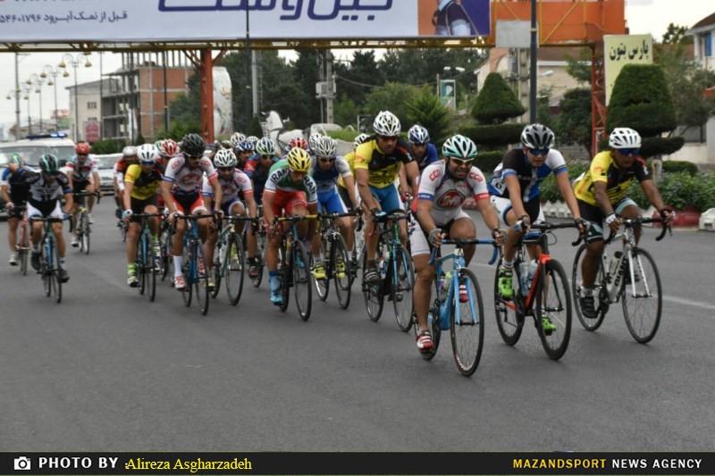 تصاویری از ششمين مرحله دوچرخهسواری لیگ مازندران در عباس آباد