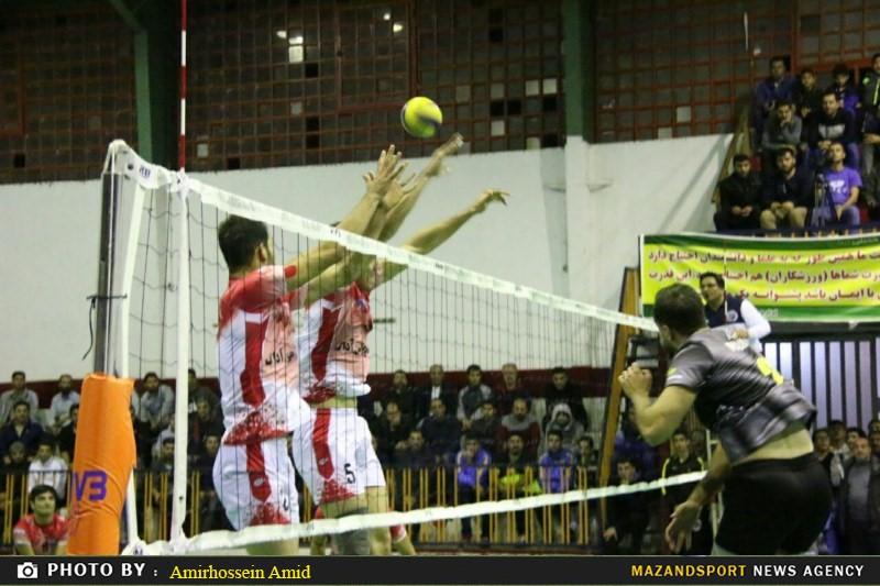 تصاویر پیروزی شیرین شهدا رامسر مقابل ملوان تهران در هفته دوم لیگ دسته یک والیبال کشور
