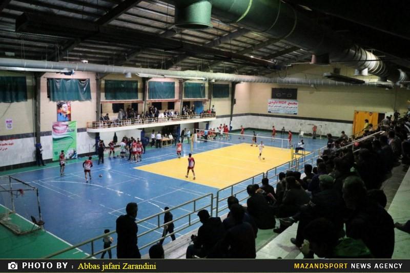گزارش تصویری دیدار تیم های والیبال شهروند نکا و ژلاتو آق قلا