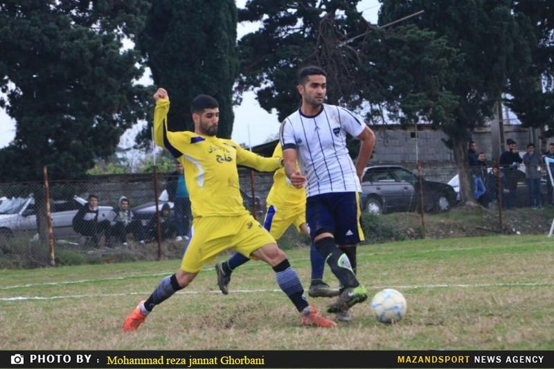 دیدار شهروند رامسر و زرندین نکا در لیگ برتر فوتبال استان مازندران