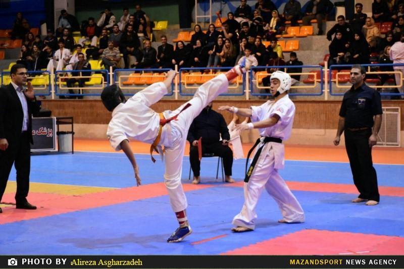 ساری قهرمان المپیاد استعدادهای برتر کاراته مازندران شد
