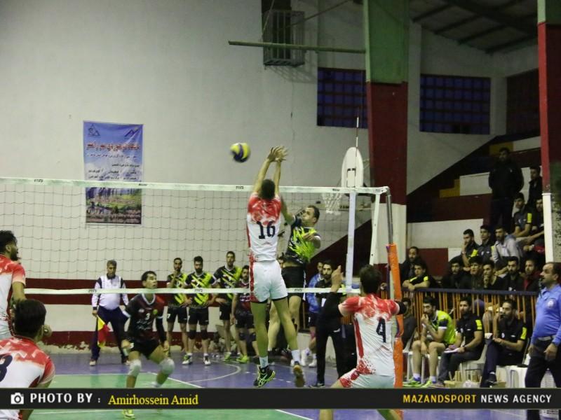 کامبک به سبک شهدای رامسر / تصاویر دیدار والیبال شهدای رامسر و مقاومت تهران