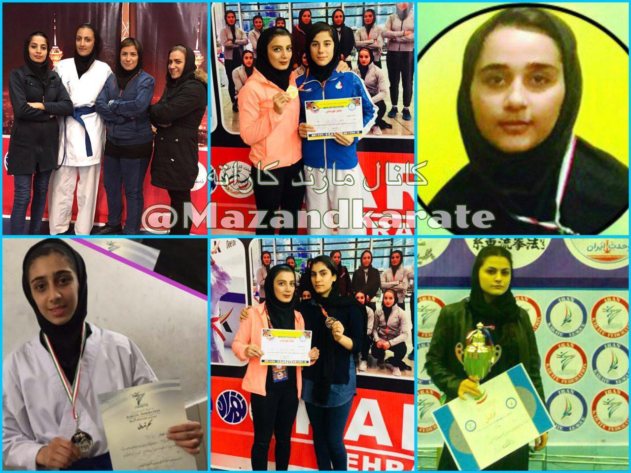 شش مدال رنگارنگ اميدهاى دختر مازندران در انتخابى تهران/يك طلا گرفتيم، نائب قهرمان شديم
