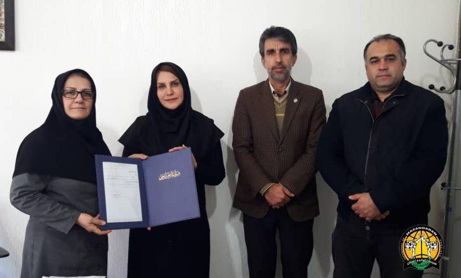 حیدری نایب رئیس بانوان هیات تکواندو استان مازندران شد
