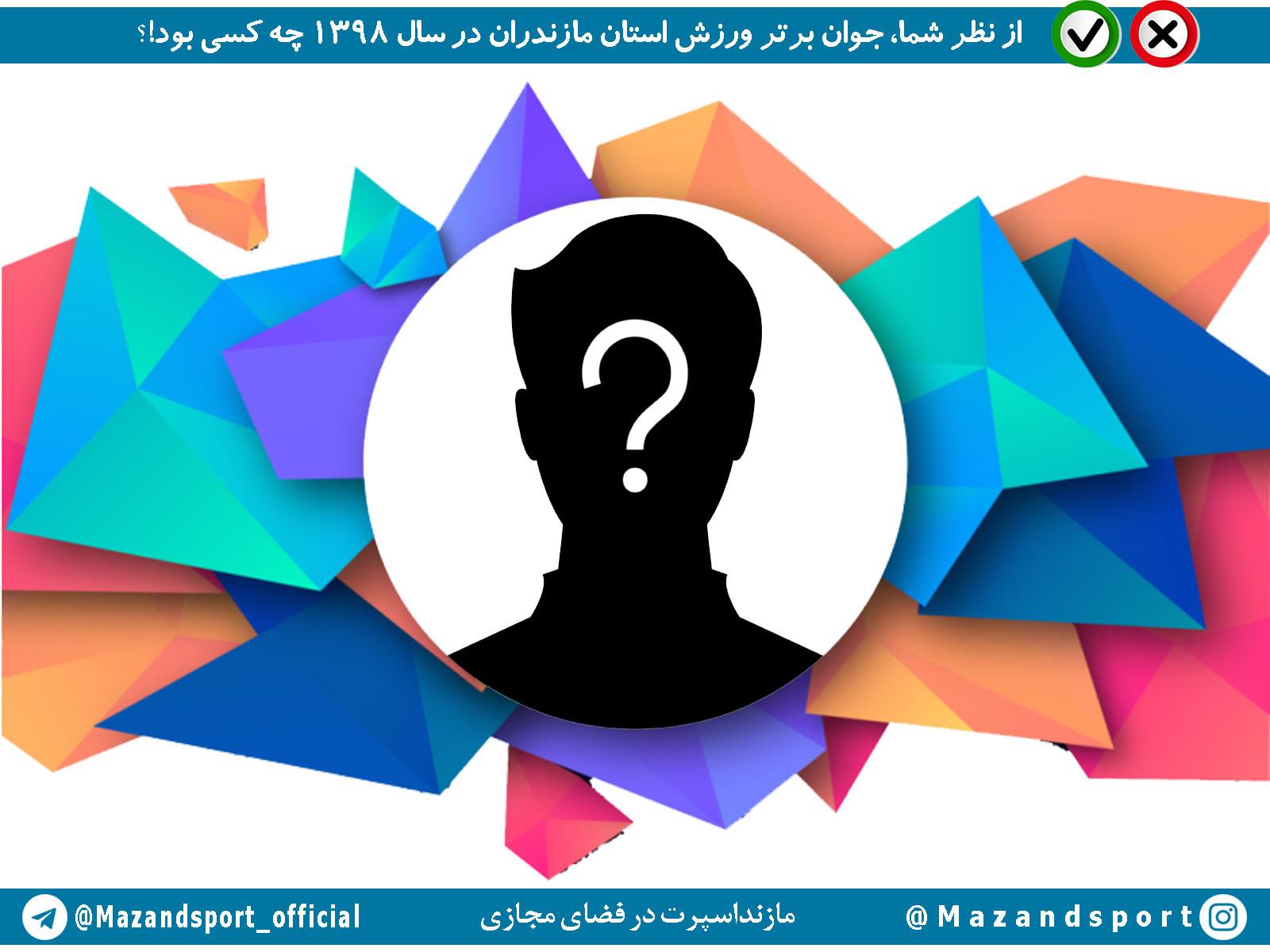 جوان برتر ورزش استان مازندران در سال ۱۳۹۸ را انتخاب کنید + عکس کاندیدا