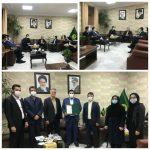 دکتر رنگرز مدیرکل کل ورزش وجوانان استان با رئیس هیات بدمینتون مازندران